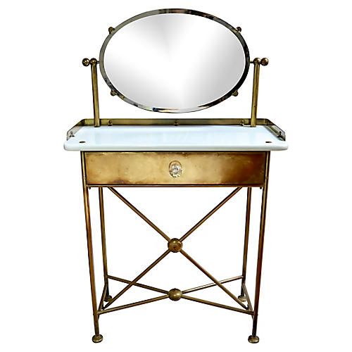 1930s French Brass Dressing Table