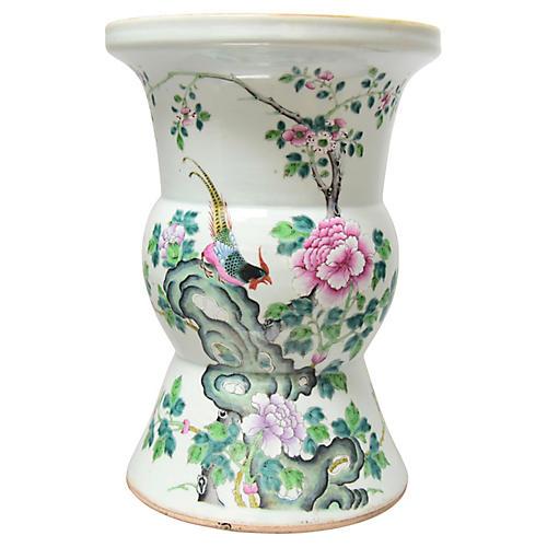 19th-C. Famille Rose Vase