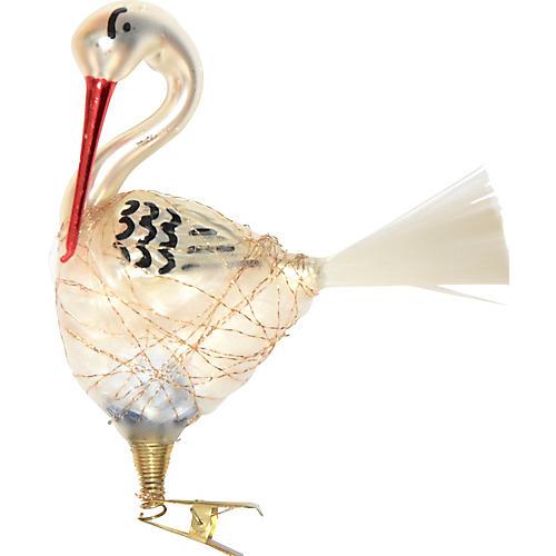 Nesting Stork Ornament