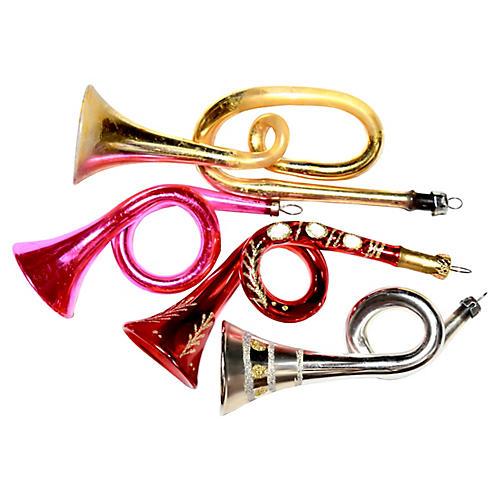 Bugle Ornaments, S/4