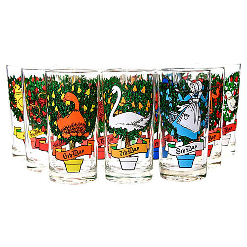 12 Days of Christmas Tumblers, S/12
