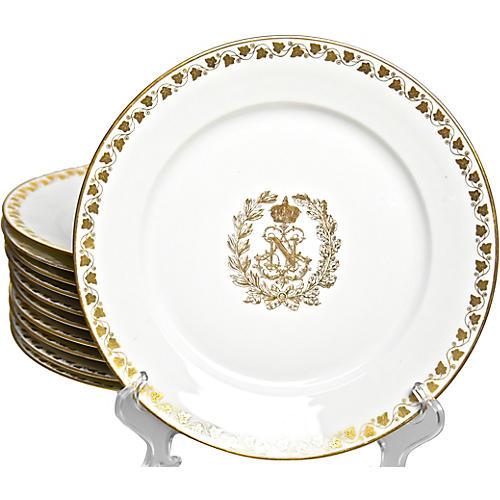 19th-C. Napoleon III Sevres Plates, S/11