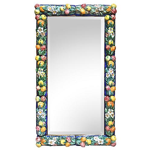 Florentine Majolica Wall Mirror