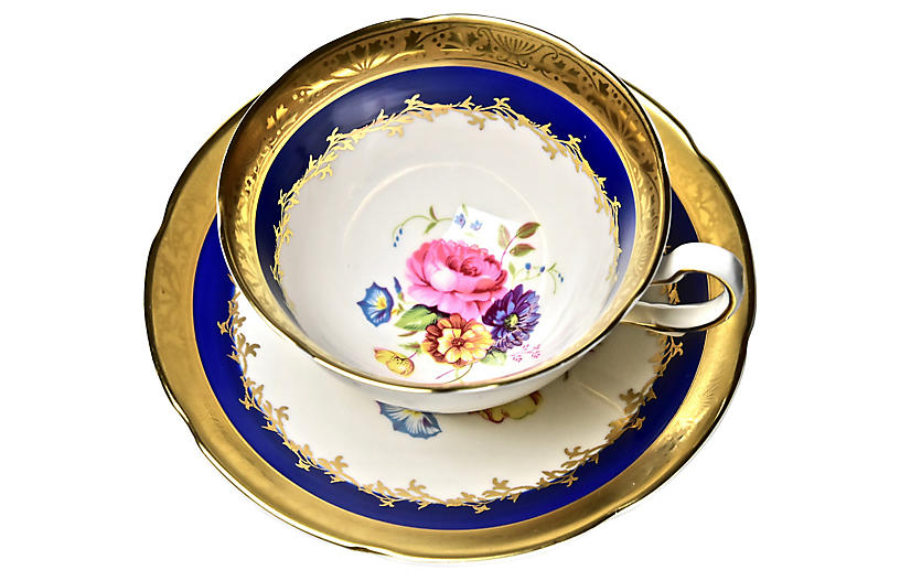 English Gilded Cup & Saucer
