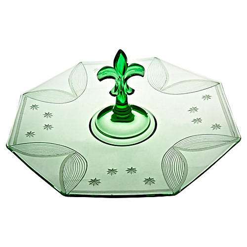 Emerald Glass Serving Plate