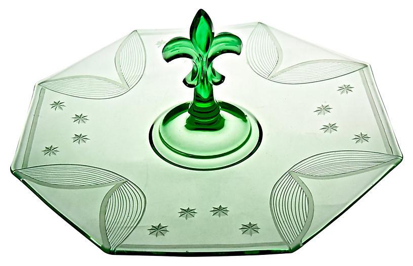 Emerald Glass Serving Plate