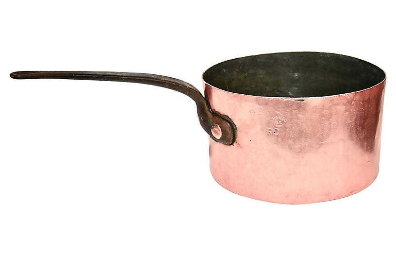 Extra Large 19th-C. Copper Pot