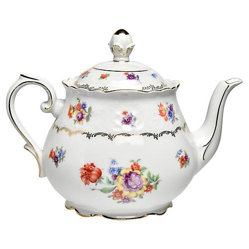 Bavarian Dresden Teapot