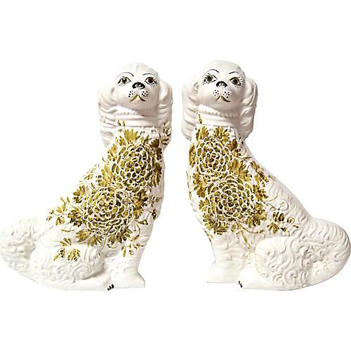 Midcentury Mantle Spaniels, Pair