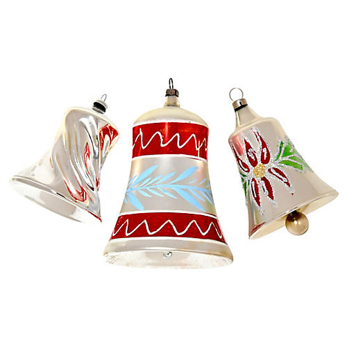 Large Bell Ornaments, S/3
