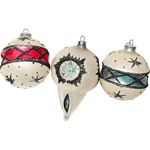 Large Starry Ornaments, S/3