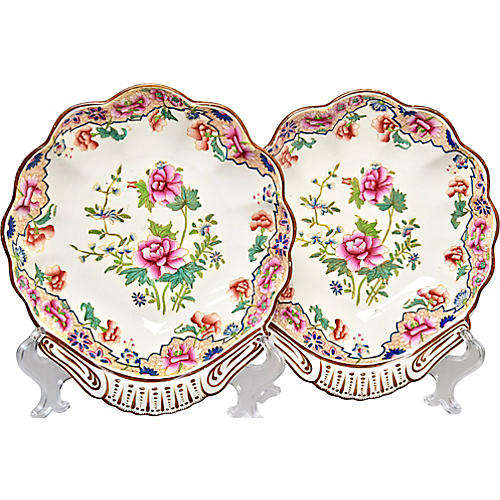 C.1820 Spode Shell Bowls, Pair