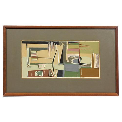 Midcentury Abstract Interior Scene