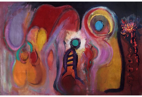 Vivid Abstract Expressionist Composition