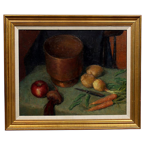 Antique Vegetables on Table