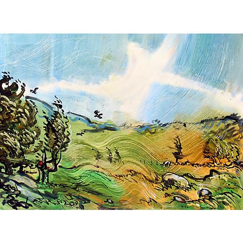 Robert Blair Painting August Wind