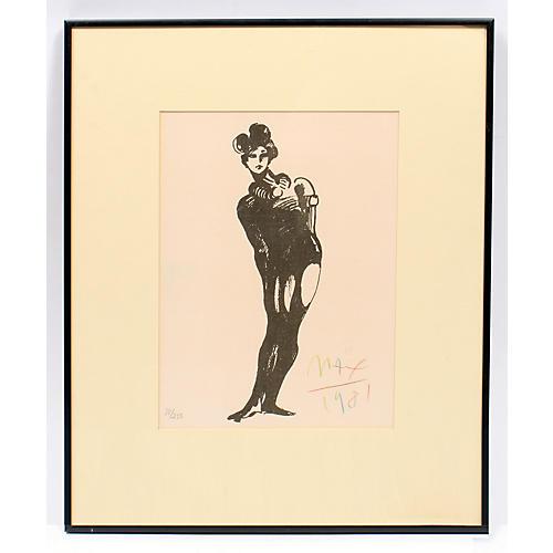 Peter Max Print The Mime