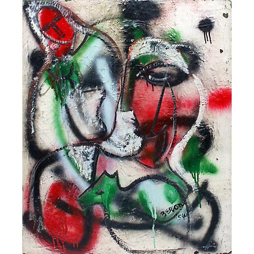 Irene Zevon Abstract Painting Comp 54
