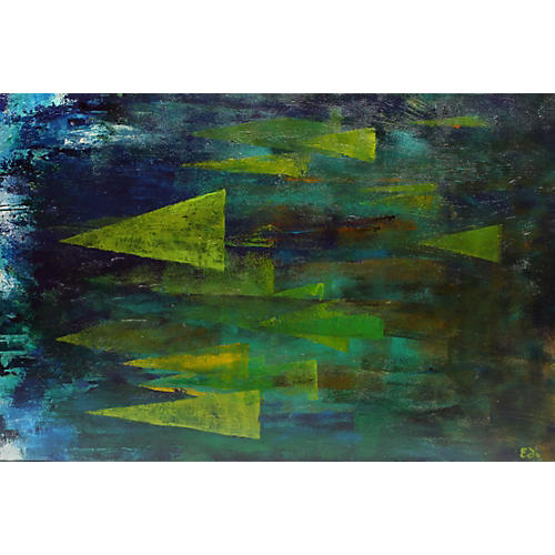 Modern Geometric Abstract Painting