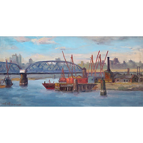 Chuck Wong View Willis Bridge Painting