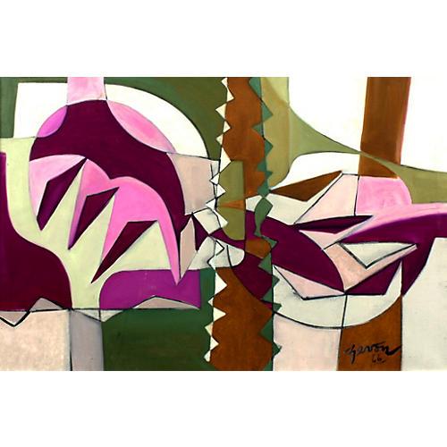 Irene Zevon Painting Abstraction 1966