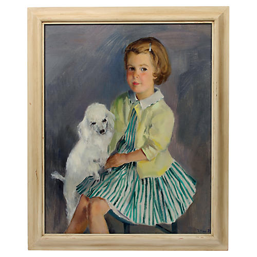 Little Girl with Poodle Virginia Tillou