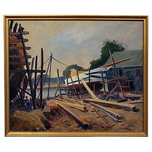 Shipyard by Julius Richter