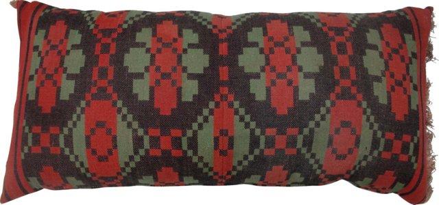 Kilim Rug Pillow w/ Fringe
