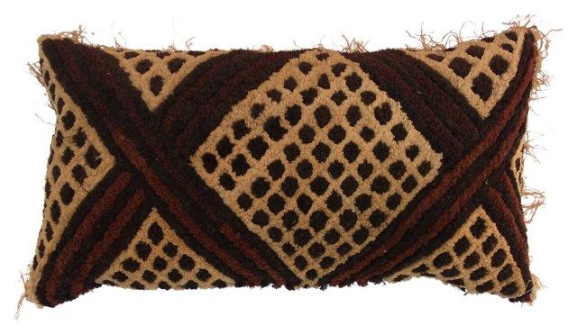 African Raffia Pillow w/ Fringe