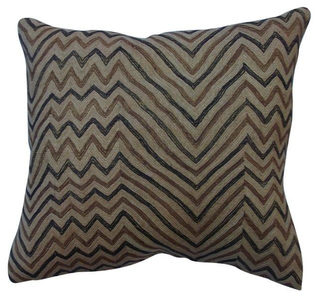 African Raffia    Zigzag    Pillow