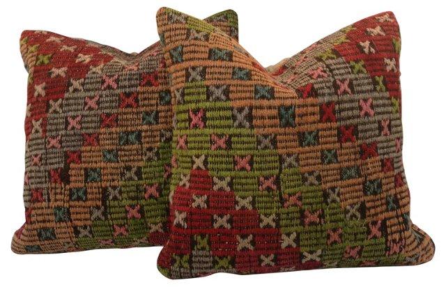Kilim    Fragment Pillows, Pair