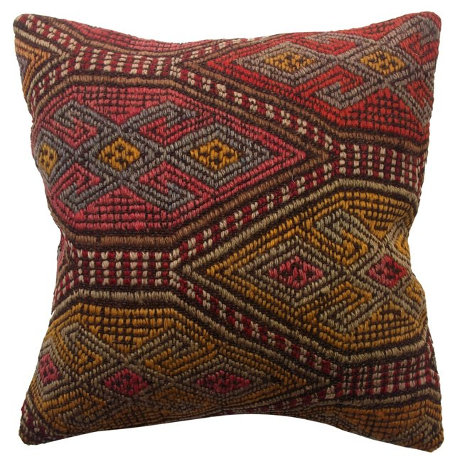 Pillow w/ Turkish Kilim Fragment