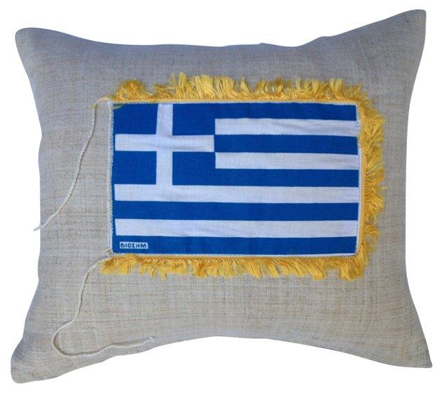Pillow w/  Greek  Flag