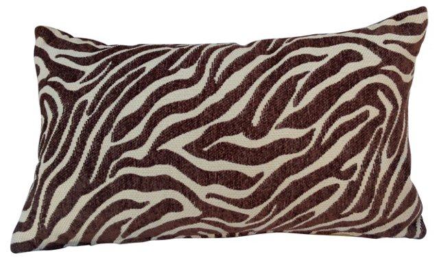Zebra-Print   Lumbar Pillow