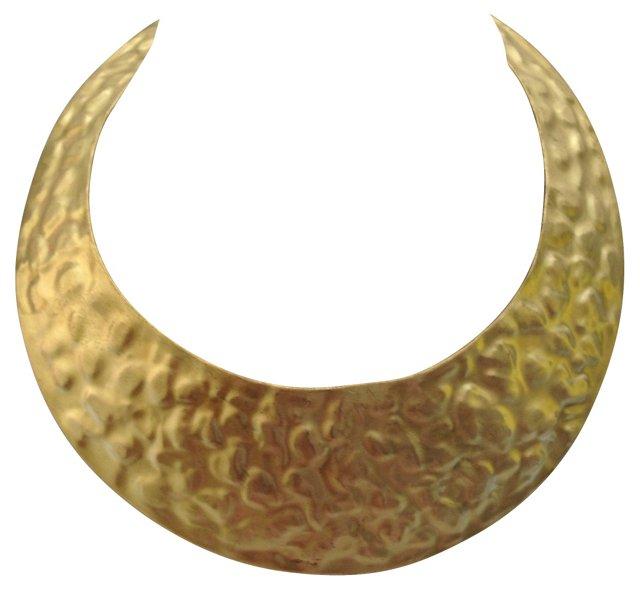 Hammered Goldtone Collar Necklace