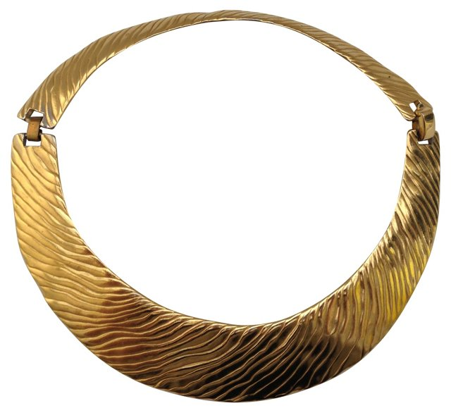 Trifari Goldtone Metal Choker