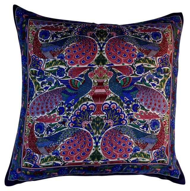 Liberty of London Peacock Pillow