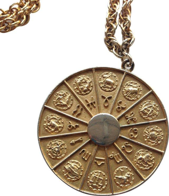 1970s Napier Zodiac Medallion Necklace