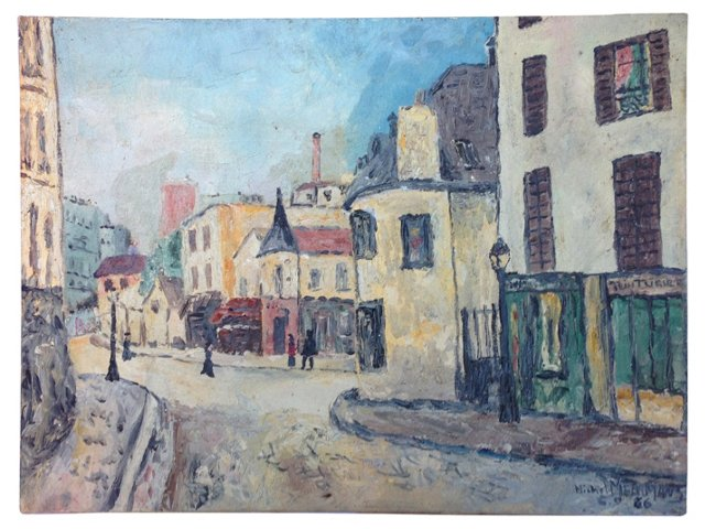 1960s Parisian                Street