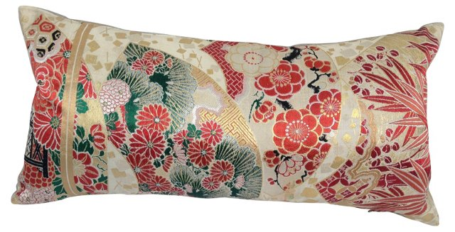 Japanese Obi Metallic    Pillow
