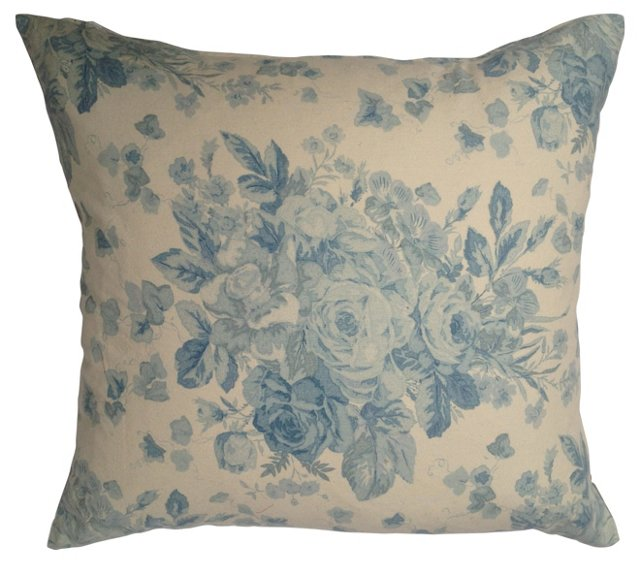 French   Floral   Pillow