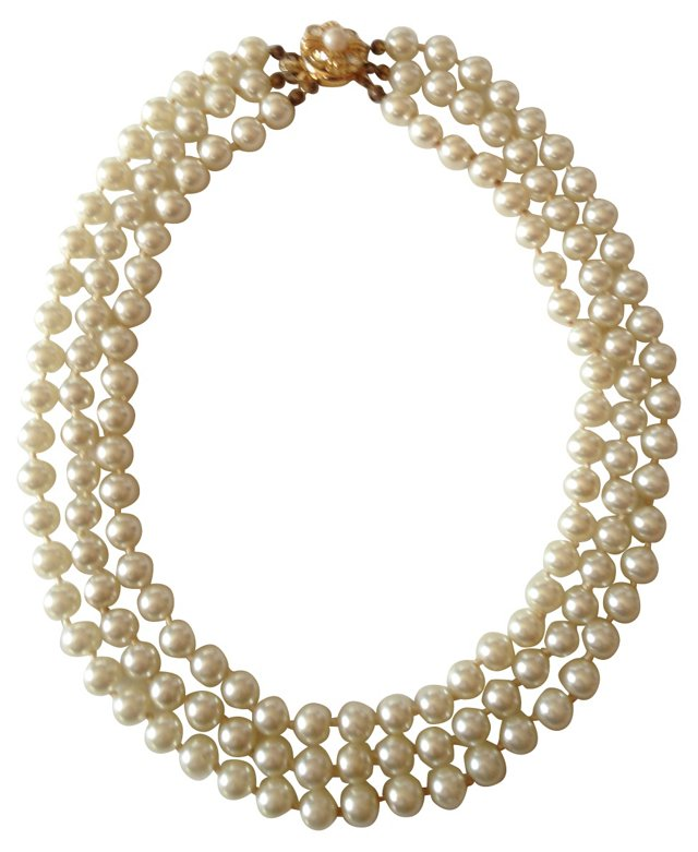 1950s Faux-Pearl  Necklace