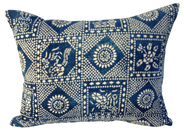 Batik Blue & White Pillow