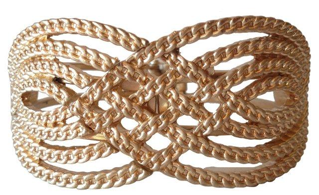 1960s Gold Clamper Cuff