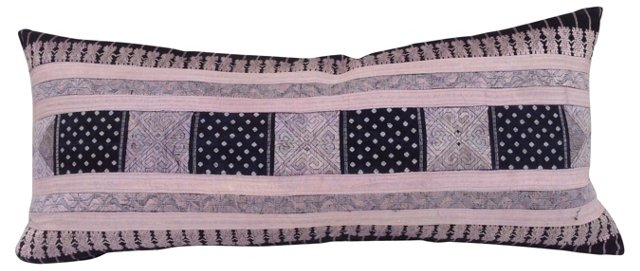 Silk Hill Tribe Pink Lumbar Pillow