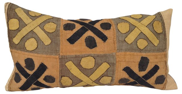 African  Raffia Lumbar  Pillow