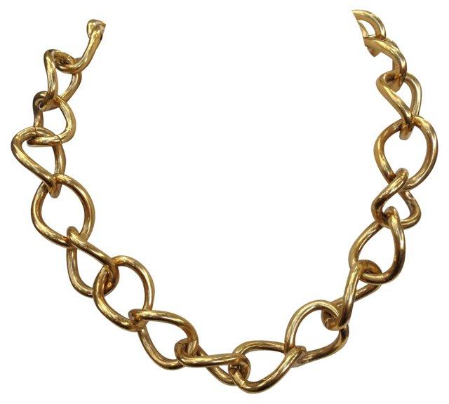 Chunky Gold Chain-Link Choker