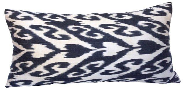 Black & White Ikat Spade Pillow