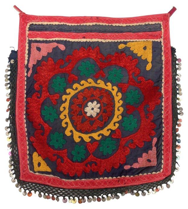 Suzani Fringed Floral Textile