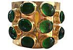 1970s Byzantine-Style Jeweled  Cuff